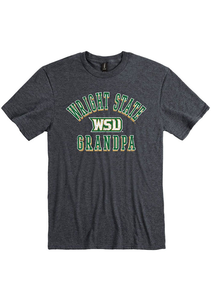Wright State Raiders Charcoal Grandpa Number One Short Sleeve Fashion T Shirt - Image 1