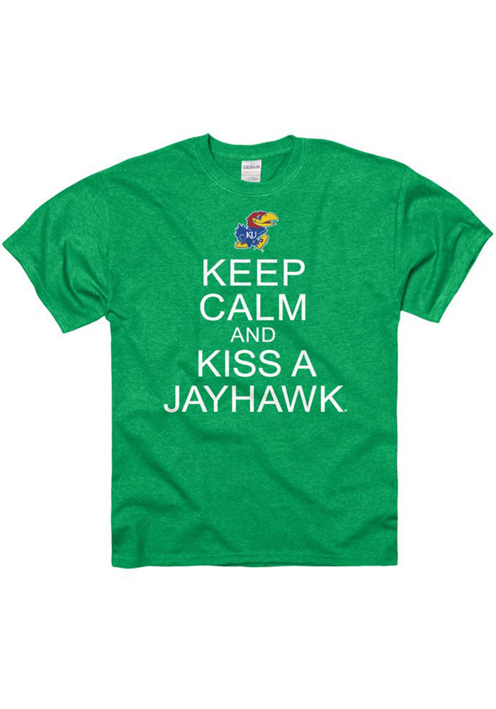 Kansas Jayhawks Green Keep Calm Tee