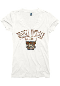 Western Michigan Broncos Womens White Ageless T-Shirt