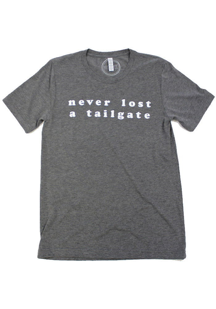 Womens Grey Never Lost Tailgate Short Sleeve Fashion T Shirt - Image 1