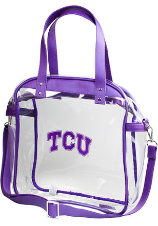 TCU Horned Frogs White Stadium Approved Clear Bag