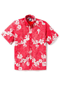 Philadelphia Phillies 50 State Floral Dress Shirt - Red