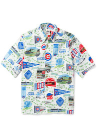 Chicago Cubs White Hometown Scenic Dress Shirt