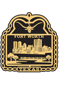 Dallas Ft Worth Brass Ornament