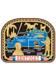 Kentucky Colored Map Magnet