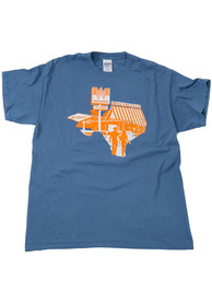 Whataburger Texas Blue State Shape Logo Short Sleeve T Shirt