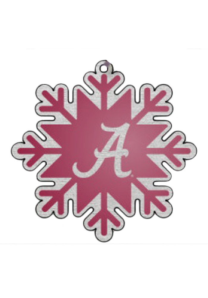 Alabama Crimson Tide Snowflake Ornament - Image 1