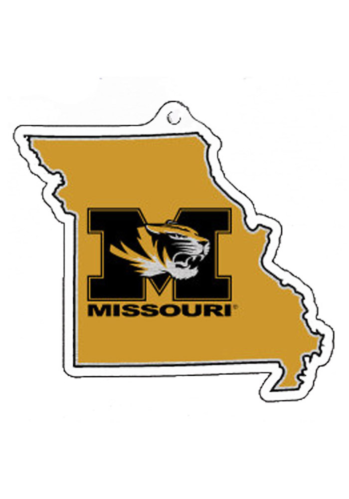 Missouri Tigers State With Logo Ornament - Image 1