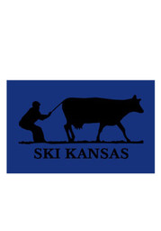 Kansas 3.5x5 Inch Ski Kansas Decal