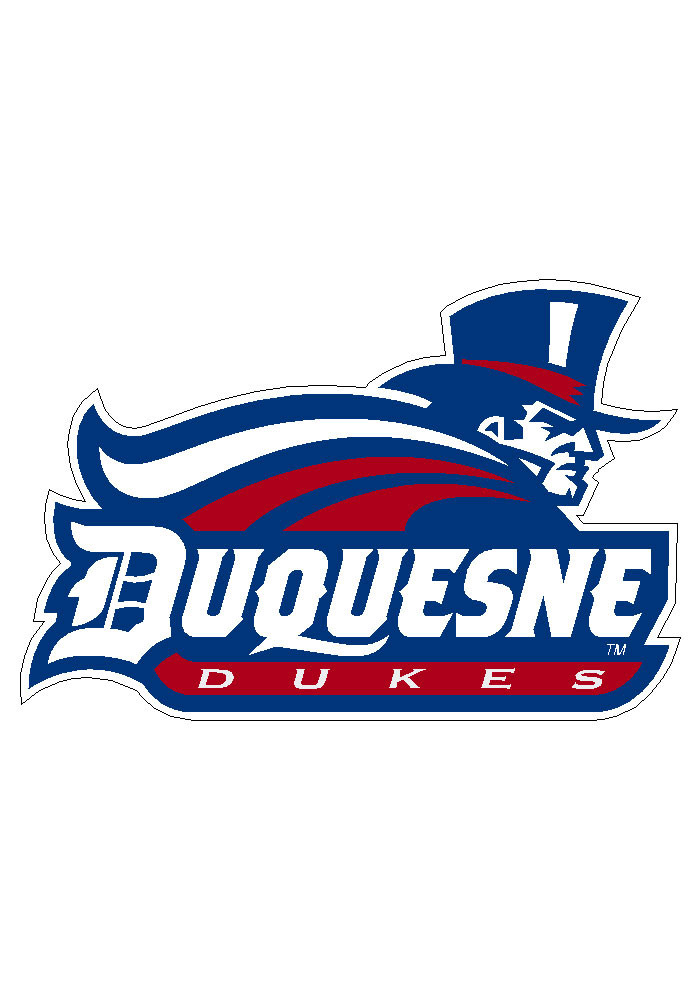 Duquesne Dukes 3.5x5.5 Decal - Image 2