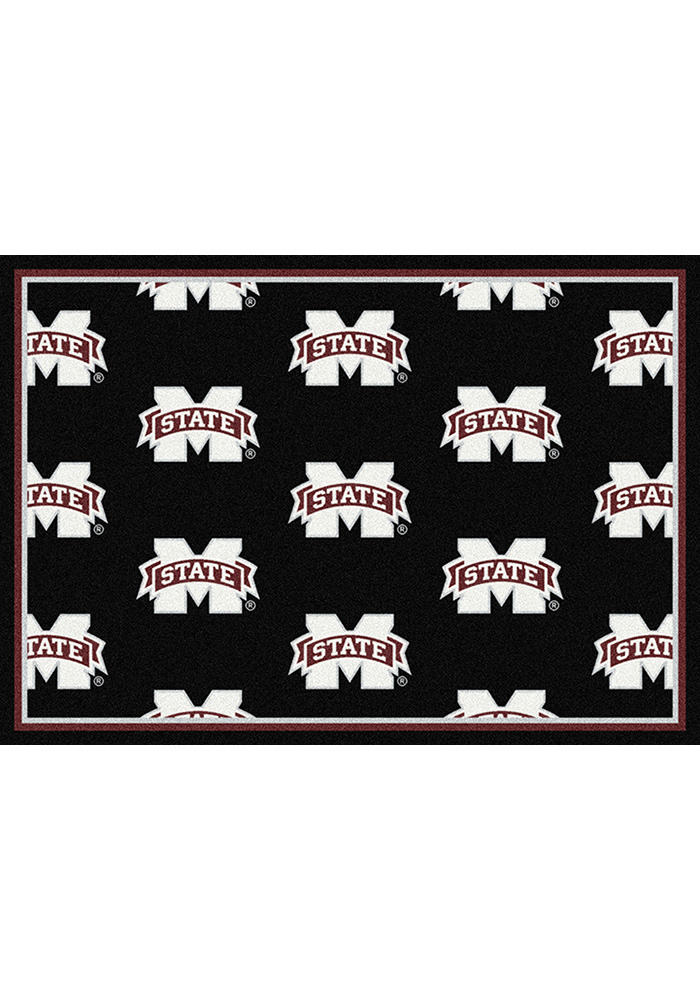 Mississippi State Bulldogs 10x13 Repeat Interior Rug - Image 1