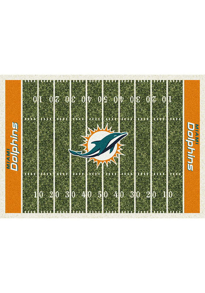 Miami Dolphins 5x7 Homefield Interior Rug - Image 1