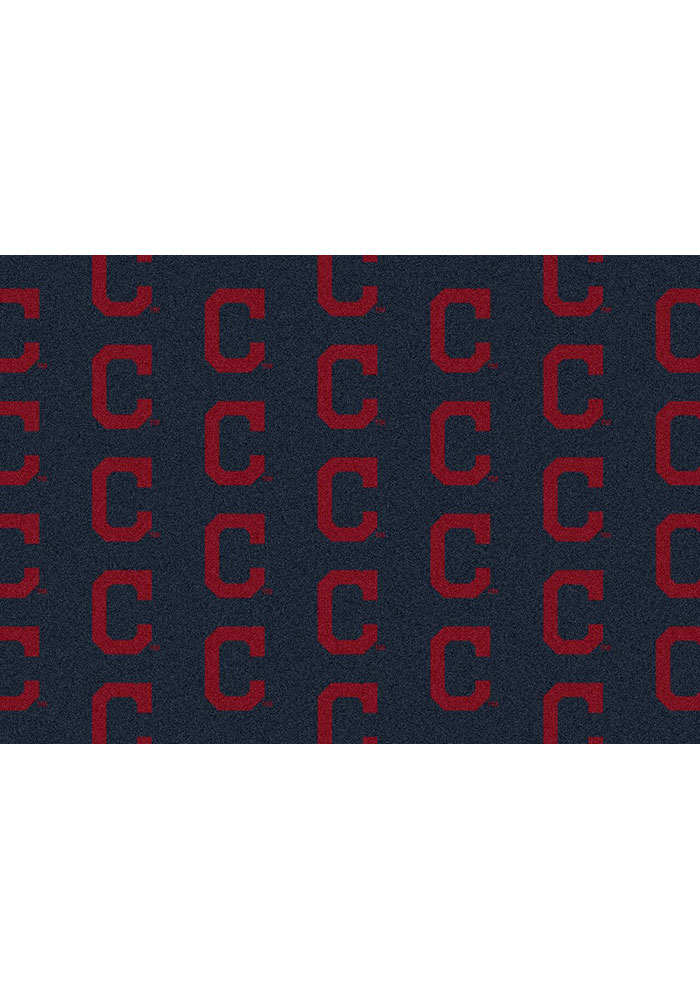 Cleveland Indians 7x10 Repeat Interior Rug - Image 1