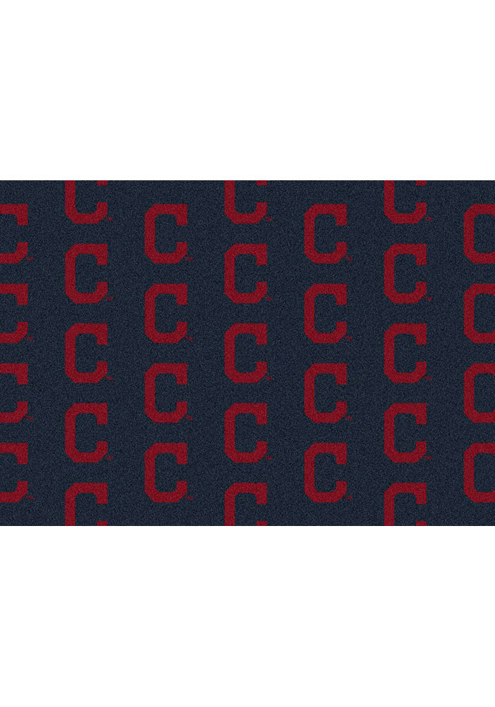 Cleveland Indians 10x13 Repeat Interior Rug - Image 1