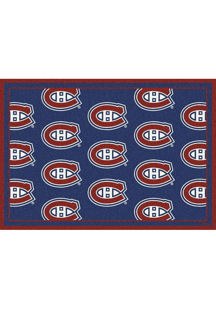 Montreal Canadiens 5x7 Repeat Interior Rug - Image 1