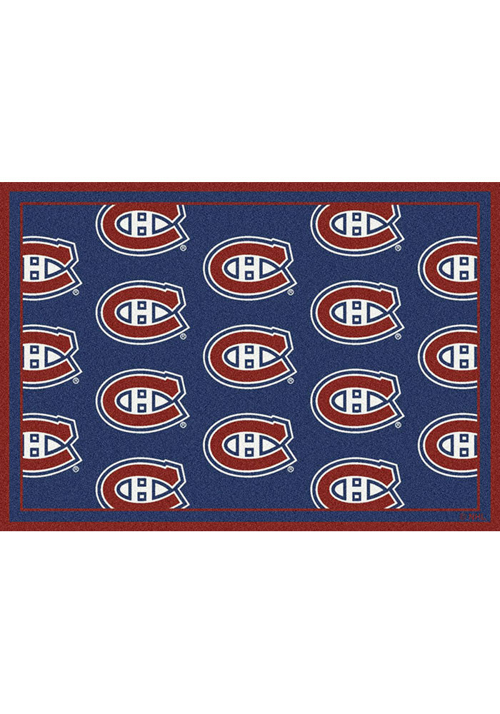 Montreal Canadiens 10x13 Repeat Interior Rug - Image 1