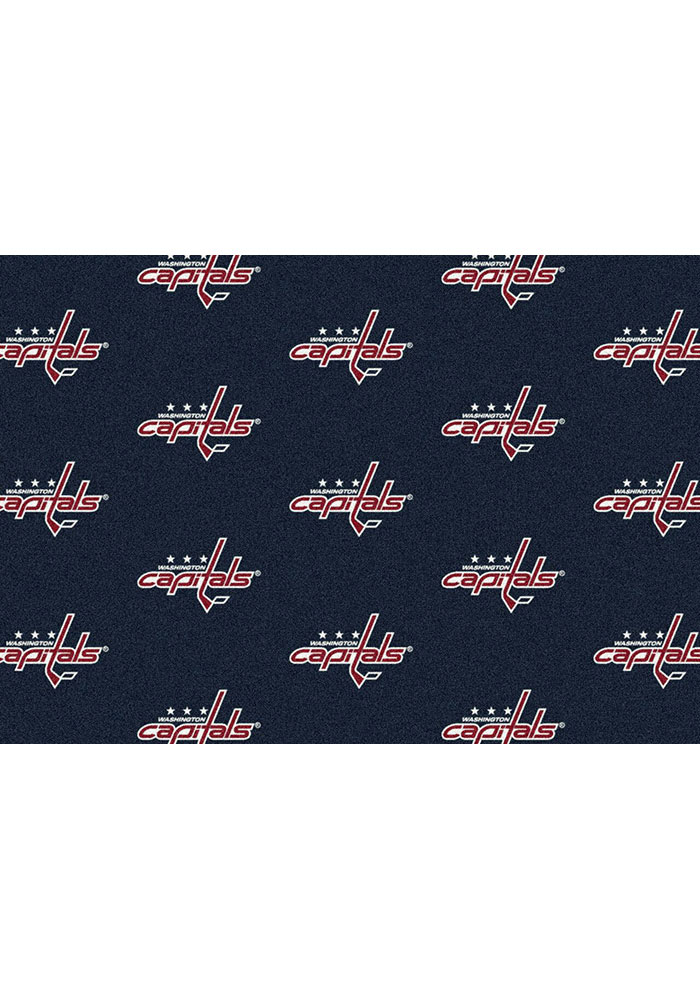 Washington Capitals 10x13 Repeat Interior Rug - Image 1