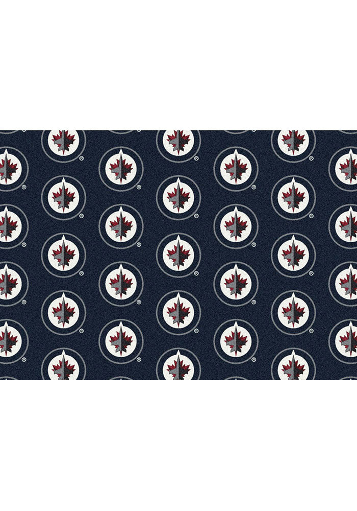 Winnipeg Jets 10x13 Repeat Interior Rug - Image 1