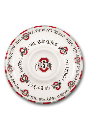 Ohio State Buckeyes Chip N Dip Serving Tray