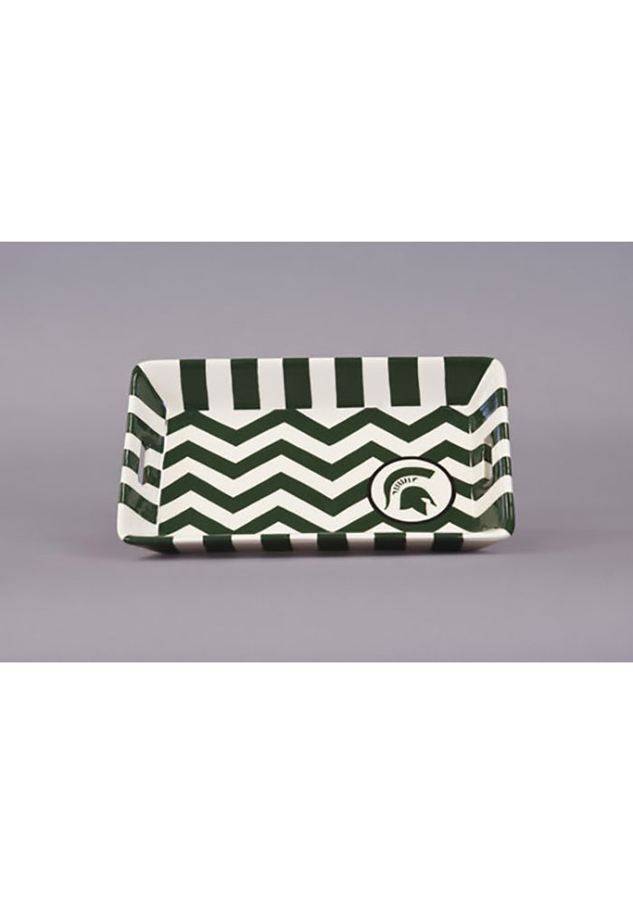 Michigan State Spartans Small Square Serving Tray - Image 1