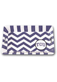 TCU Horned Frogs Mini Chevron Serving Tray