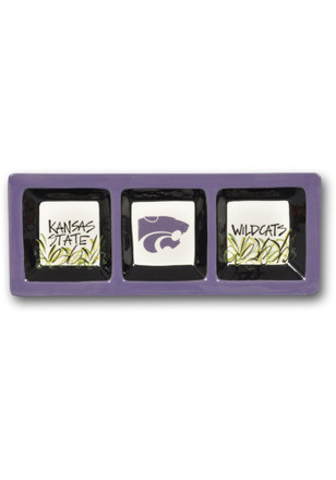 K-State Wildcats 3 Section Divided Serving Tray