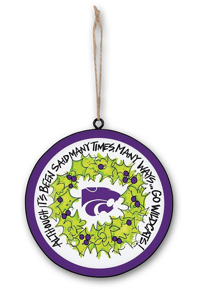 K-State Wildcats Metal Ornament - Image 1
