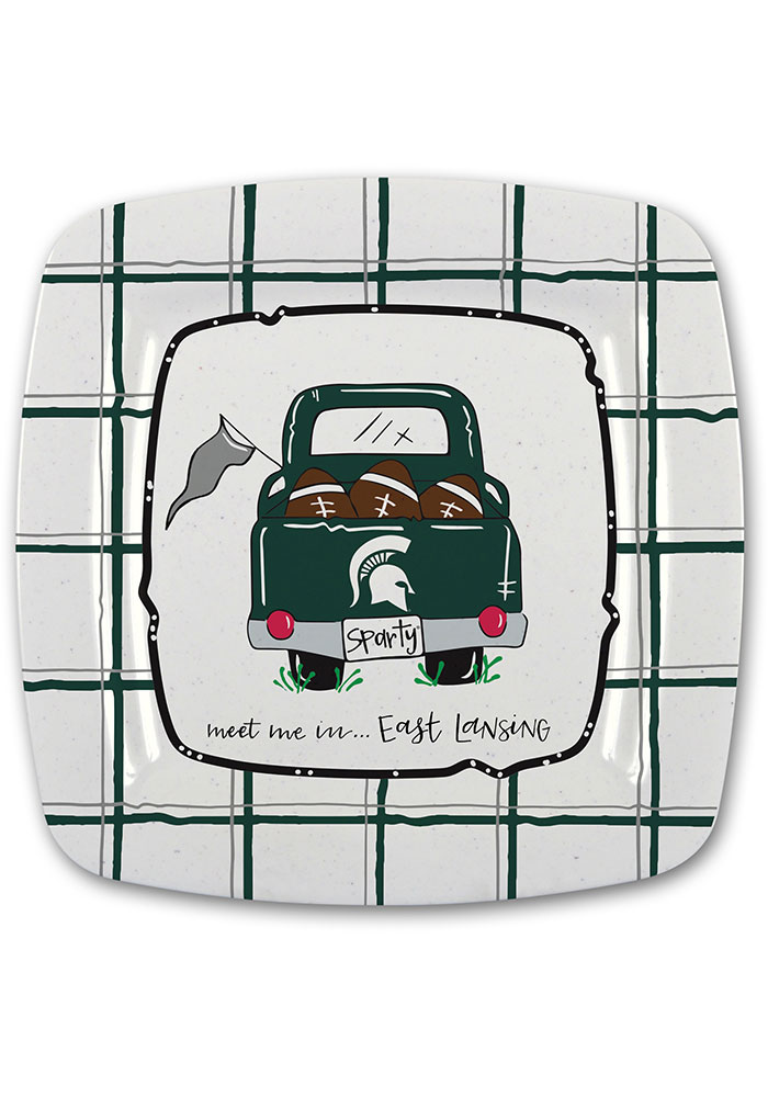 Michigan State Spartans 11in Melamine Truck Plate - Image 1
