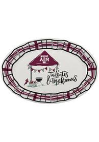 Texas A&M Aggies 18x12 Melamine Oval Tailgate Serving Tray