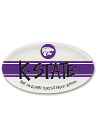 K-State Wildcats 6.75 x 12.25 Oval Melamime Serving Tray