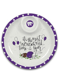 K-State Wildcats Chip n Dip Serving Tray