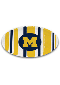 Michigan Wolverines 6.75 x 12.25 Oval Melamime Serving Tray