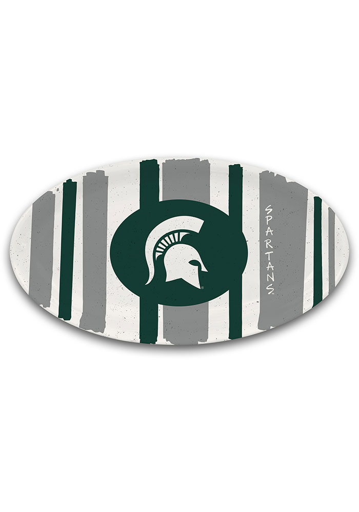 16-Inch NCAA Michigan State Spartans Melamine Oval Platter