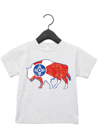 Wichita Toddler Grey City Flag Buffalo Short Sleeve T Shirt