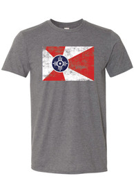 Wichita Grey City Flag Short Sleeve T Shirt