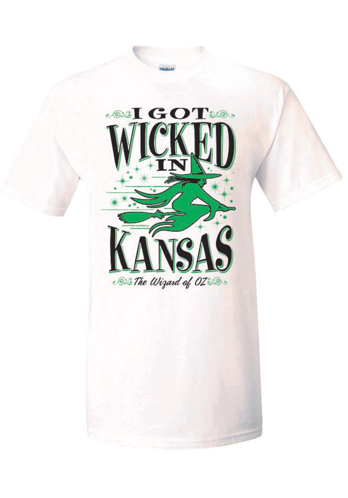 Wizard of Oz White I Got Wicked in Kansas Short Sleeve T Shirt