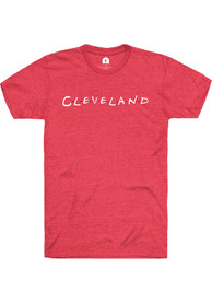 Cleveland Rally Dots Fashion T Shirt - Red