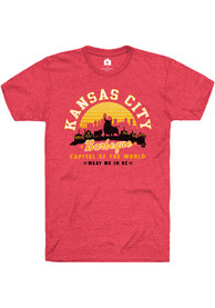 RALLY Brand™ x Harvesters COLLAB Meat Me in KC Short Sleeve T Shirt - Red