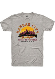 RALLY Brand x Harvesters COLLAB Meat Me in KC Short Sleeve T Shirt - Grey