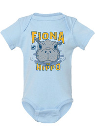 Cincinnati Baby Rally Fiona the Hippo Peaking Out of Water One Piece - Light Blue