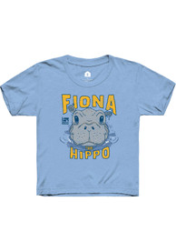 Cincinnati Toddler Rally Fiona the Hippo Peaking Out of Water T-Shirt - Light Blue