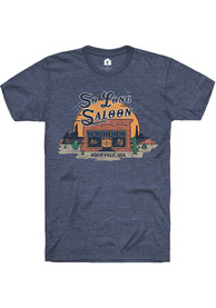 So Long Saloon Rally Brand Western Sunset Fashion T Shirt - Navy Blue