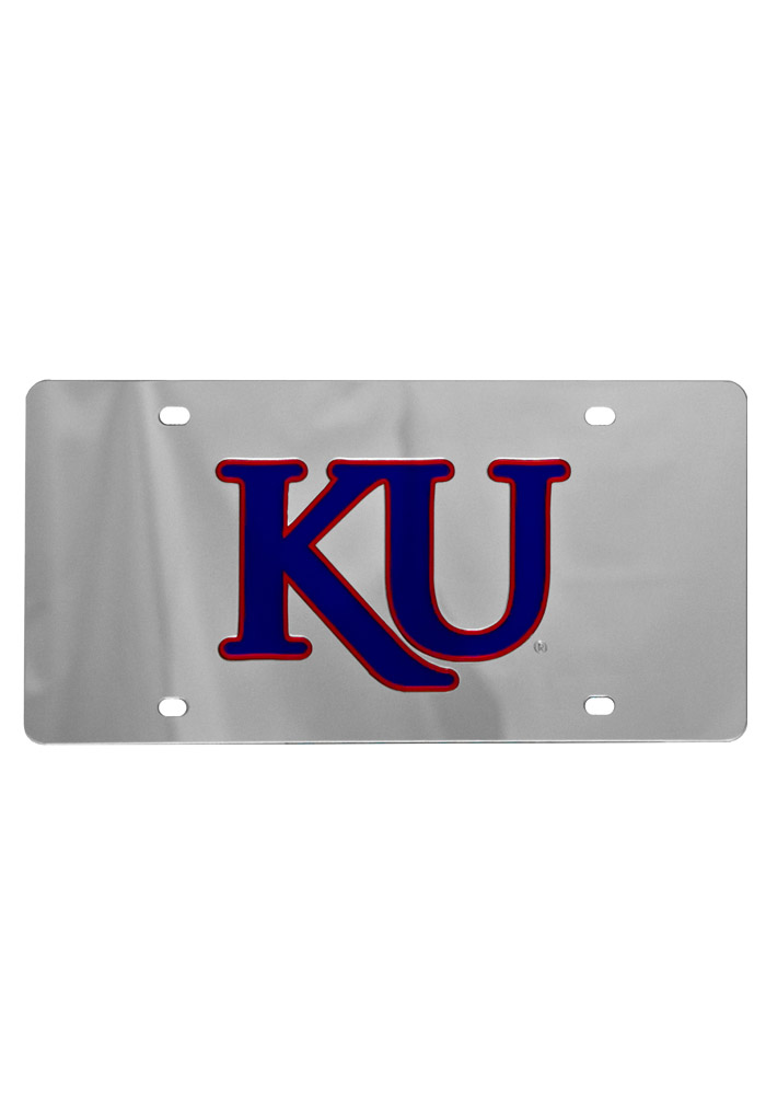 Kansas Jayhawks Trajan KU Car Accessory License Plate - Image 1