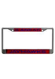 Kansas Jayhawks Red and Blue Team name Car Accessory License Frame