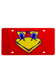 Kansas Jayhawks Beak Em Red Car Accessory License Plate