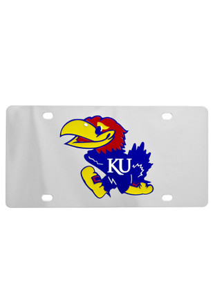 Kansas Jayhawks Stainless Steel Logo Car Accessory License Plate