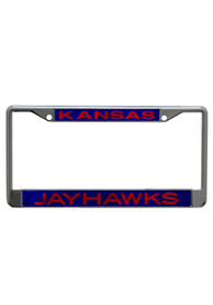 Kansas Jayhawks Team Name Chrome License Frame