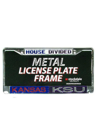 Kansas Jayhawks and K-State Wildcats House Divided License Frame