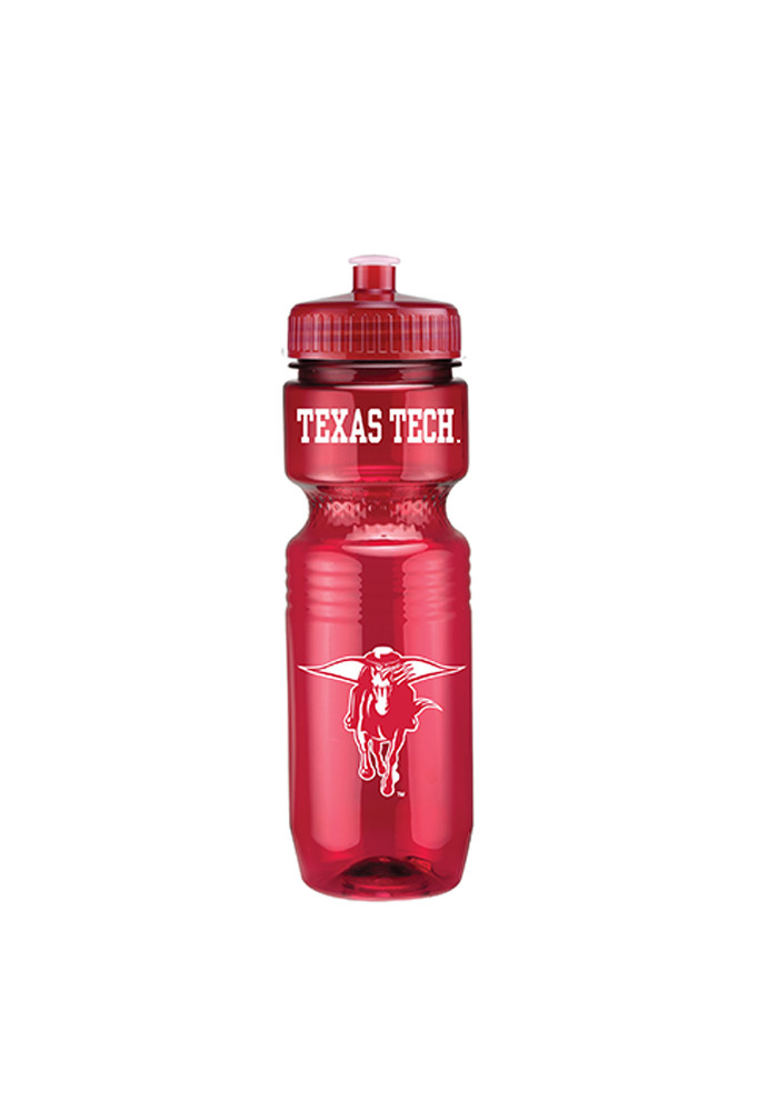 Texas Tech Red Raiders Red Plastic Water Bottle - Image 1