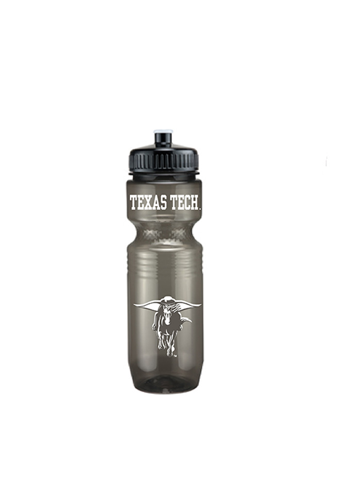 Texas Tech Red Raiders Grey Plastic Water Bottle - Image 1